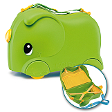 Moltó Smiler suitcase green + complements