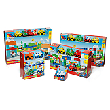 Molto Blocks + 2 Electronic Cars