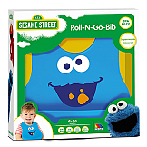 """Sesame Street"" Roll-N-Go Silicone Bib Cookie Monster Molto"