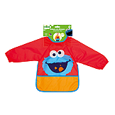 """Sesame Street"" Long Sleeve Bib Cookie Monster Molto"