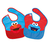"""Sesame Street"" Bib Pack 2 Elmo and Cookie Monster Molto"