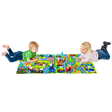 Molto blocks Set + 3 Electronic cars + Big Playmat
