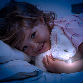 Peluche con luz suave. Sleeping Buddies Night Light Moltó