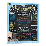 """All about Baby"" Chalkboard Molto"