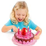 Molto Party Cake, wooden toy birthday cake