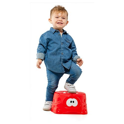 Taburete para ni os molto rojo molto juguetes y puericultura - Taburete ninos ...